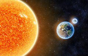 Erde mit maximalem Sonnenabstand