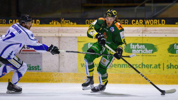 Marc-Olivier Vallerand (Lustenau) besorgte den dritten Treffer der Lustenauer im Powerplay.Oliver Lerch