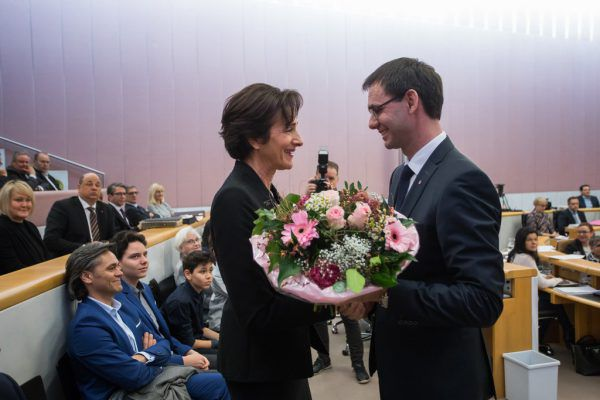 Bernadette Mennel verabschiedete sich als Landesrätin.Steurer