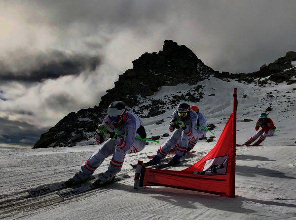 Berthold beim Präparieren seiner Ski und links als der Mann, der das Tempo vorgibt.Privat (2), GEPA