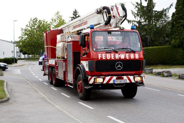 Feuerwehr im Einsatz.Hofmeister