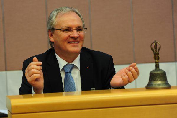 Landtagspräsident Harald Sonderegger hofft auf einen fairen Wahlkampf.VLK/Serra
