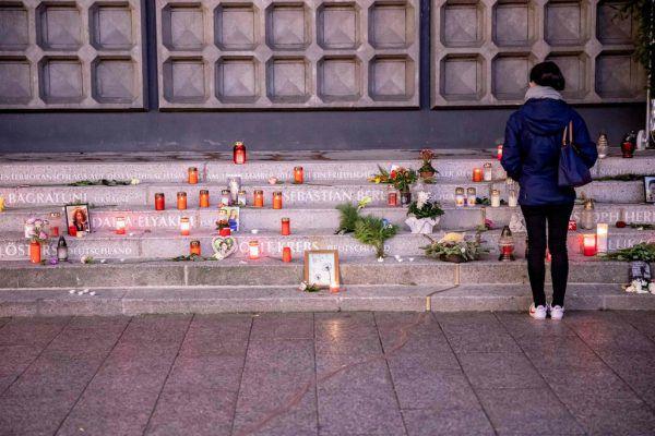 Mit diesem Mahnmal wird an die Opfer des Anschlags erinnert. dpa