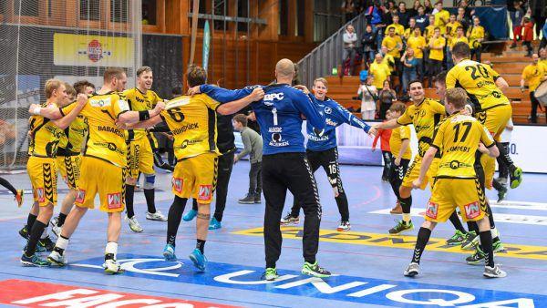 Nach dem Spiel hatten die Bregenzer Grund zu feiern.Gepa/Lerch