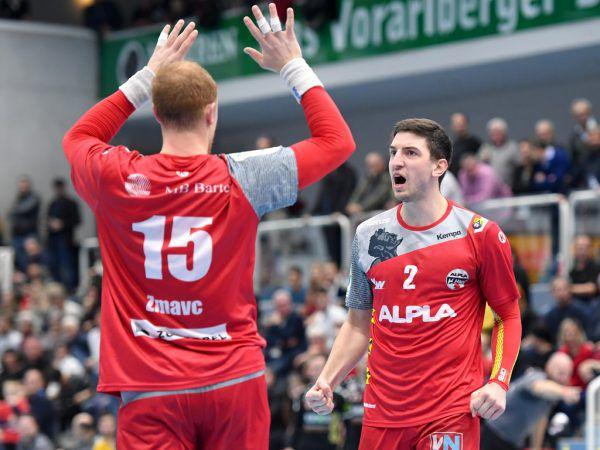 Nejc Zmavc und Max Hermann freuten sich über die zwei Punkte.Gepa/Lerch