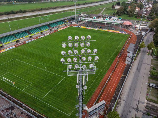 Das Planet-Pure-Stadion ist derzeit nicht bundesligatauglich.Klaus Hartinger