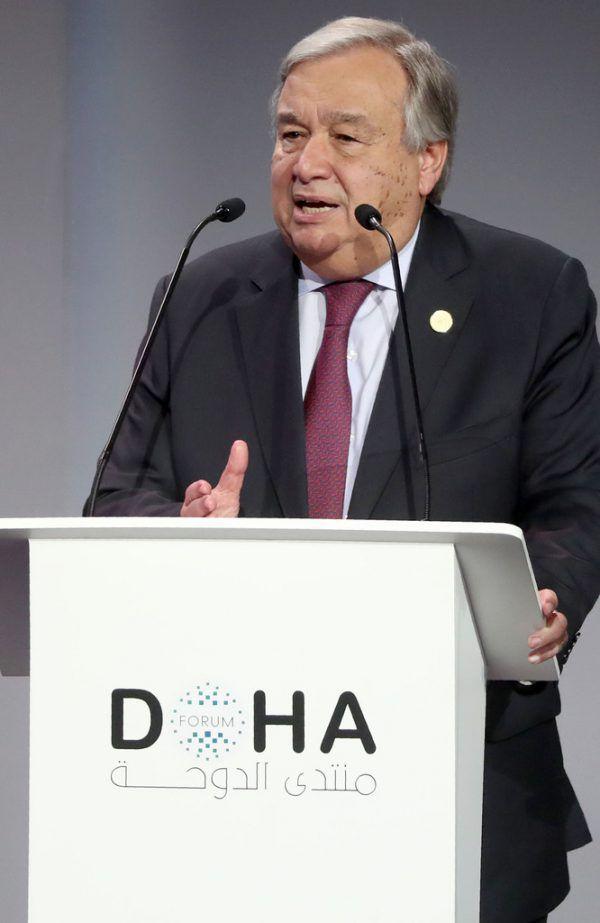 """UN-Generalsekretär António Guterres: """"Es sind nervöse Zeiten für viele.""""AFP"""