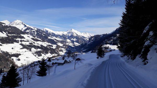 Ausblick vom Winterwanderweg nach Raggal.Hertha Glück