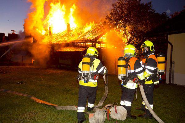 Brand in Satteinser Wohnhaus. Landesfeuerwehrverband