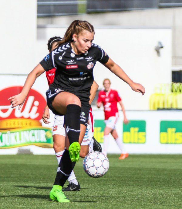 CL-Spielerin Palsdottir. FFC Vorderland