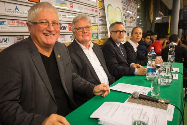 Das bisherige Präsidium um Reini Bösch, Hubert Nagel und Christian Ortner (v.l.).Hartinger (2)