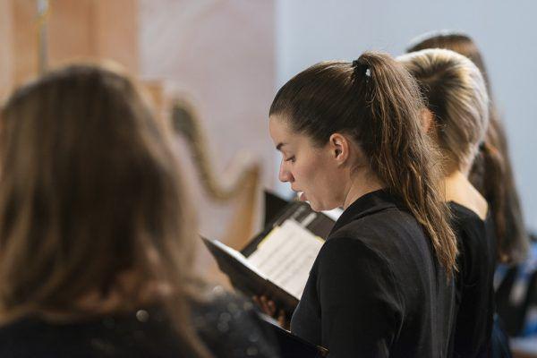 Der Chor des Landeskonservatoriums. Victor Marin
