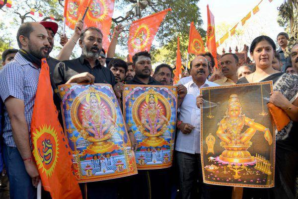 Die Tempelbesuche der Frauen lösten wütende Proteste aus.AFP