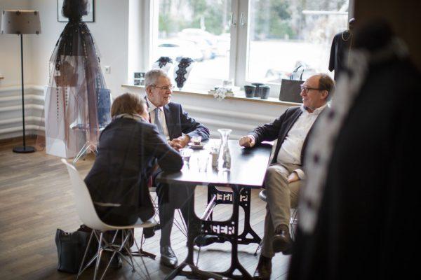 Im Gespräch mit Präsident Van der Bellen.Peter Lechner