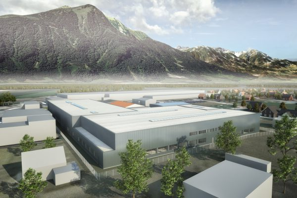 In Ludesch ist der neue Standort geplant.Rendering/Fam. Simma