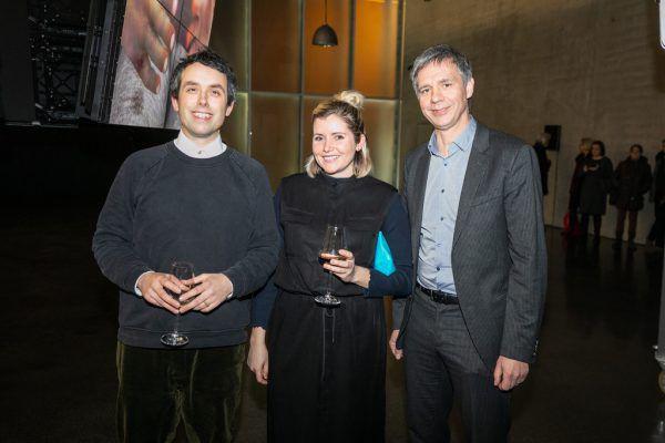 Künstler Ed Atkins, Sonya Merutka, Thomas D. Trummer (v.l.).privat (4)