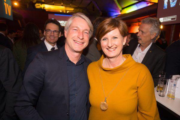 Marco Spitzar und Sabine Tichy-Treimel (Messe Dornbirn).