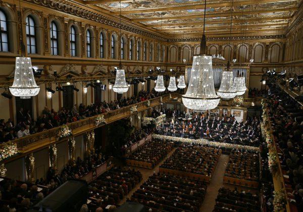 Premiere für Christian Thielemann: Der Deutsche stand zum ersten Mal beim Neujahrskonzert am Pult.APA (4)
