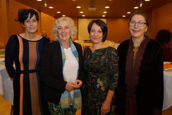 Radio- und Fernsehredakteurin Bettina Prendergast, Landesrätin Katharina Wiesflecker, Tanja Kopf und Gleichbehandlungsanwältin Christine Baur (v.l.).Ritter (6)