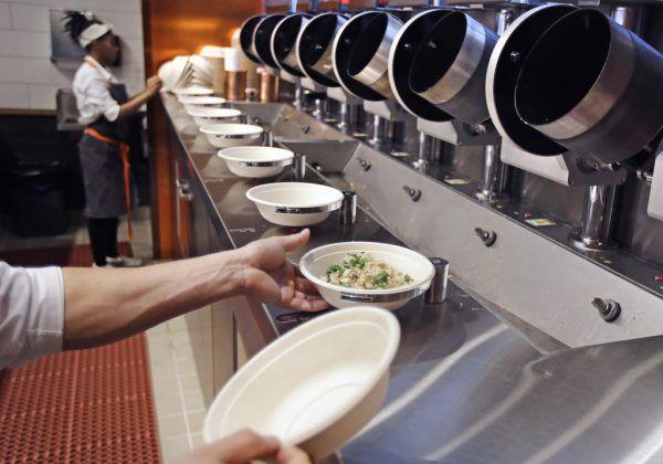 Spyce ist ein robotergestütztes Restaurant in der amerikanischen Stadt Boston.AP (3)