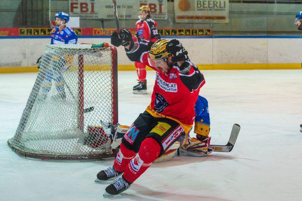 Sven Grasböck erzielte den ersten Treffer des Abends – im Endeffekt zu wenig.Stiplovsek