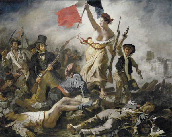 Widerstand auf Französisch: Eugène Delacroix, Die Freiheit führt das Volk, 1830.Montforter Zwischentoene (3)