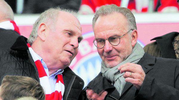 Uli Hoeneß und Karl-Heinz Rummenigge stehen mal wieder vor einem Millionendeal.GEPA