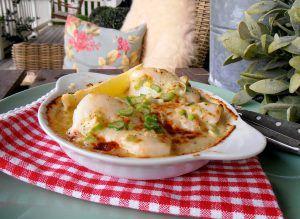 Fisch aus dem Ofen mit Parmesanbutter
