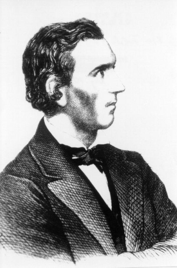 Holzschnitt-Porträt von Franz Michael Felder. Felder-Archiv