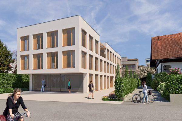 """Das """"Haus der Gesundheit"""" in der Graf-Maximilian-Straße bietet Platz für mehrere Arztpraxen. SH Bauträger"""