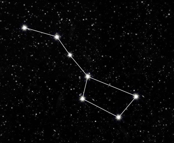Der mittlere Stern der Deichsel des Großen Wagens dient als Augenprüfer. Shutterstock