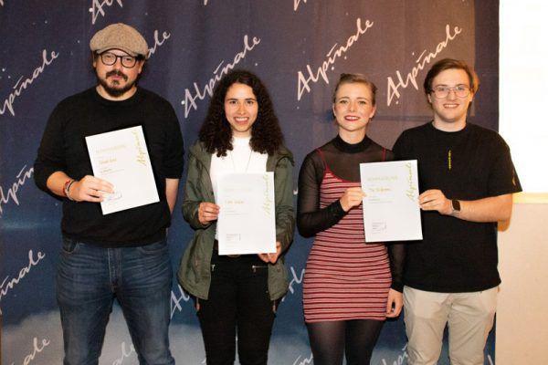 Nominiert, v.l.: Maximilian Feurstein, Selina Nenning, Fine Pumpert, Tobias Gayer und Rupert Höller (nicht im Bild).Anna Salcher/Alpinale