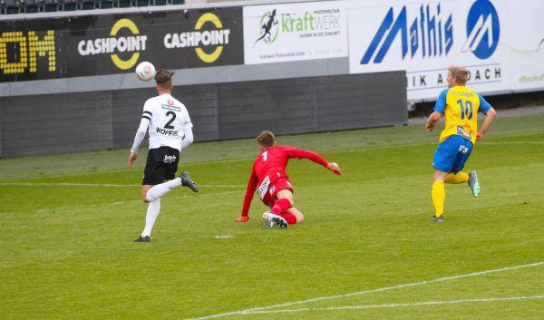 Rochus Schallert erzielt den entscheidenden Treffer und wirft den Regionalligisten aus dem Cup.Hartinger