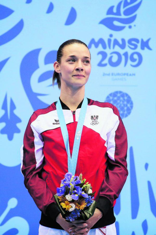 Als einzige Österreicherin gewann Bettina Plank in Minsk eine Goldmedaille.Gepa