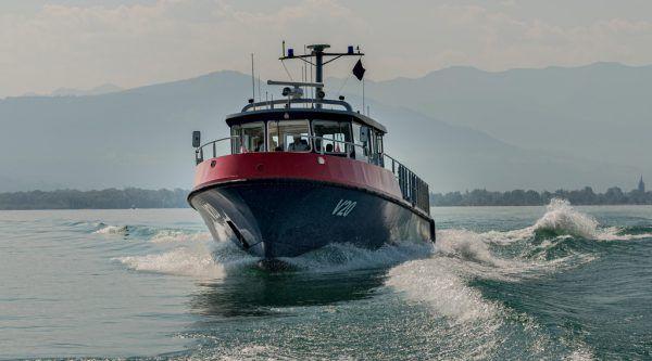 """Seepolizei rückte mit ihrem Patrouillenboot """"V20"""" aus.Stiplovsek"""