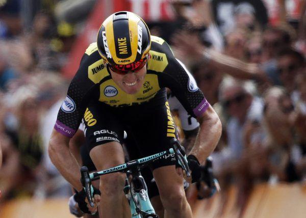 Mike Teunissen holte sich gestern überraschend das gelbe Trikot.AP