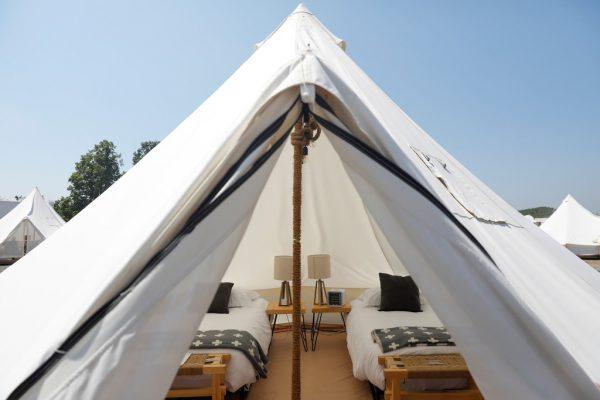 Mit dem nötigen Kleingeld Zelten kann durchaus luxuriös sein.Reuters