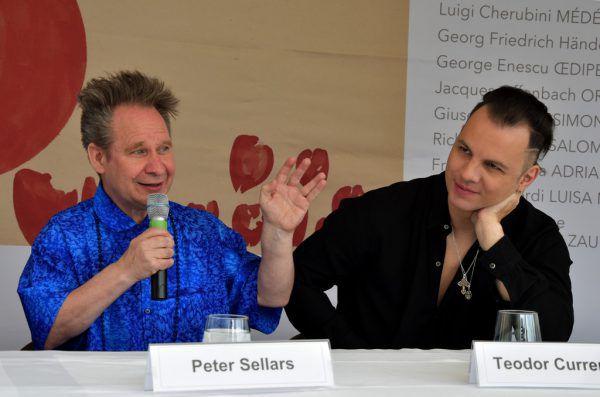 Peter Sellars und Teodor Currentzis im Gespräch. SF/Anne zeuner