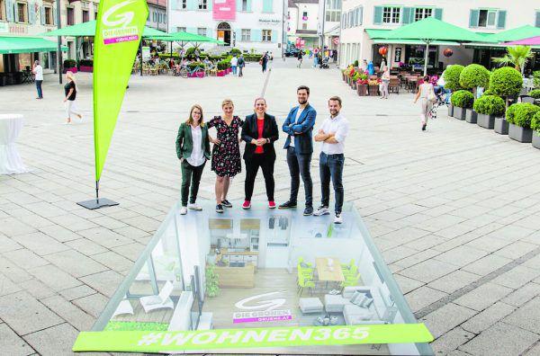 Auf dem Dornbirner Marktplatz haben die Grünen ihre Idee präsentiert.Grüne