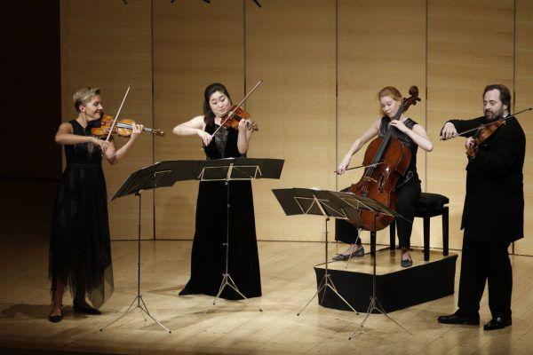 Das renommierte Quartett spielte in neuer Besetzung.Schubertiade