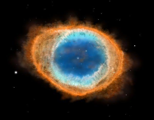 Der Ringnebel ist die abgeschleuderte äußere Hülle eines alternden Sterns. Shutterstock