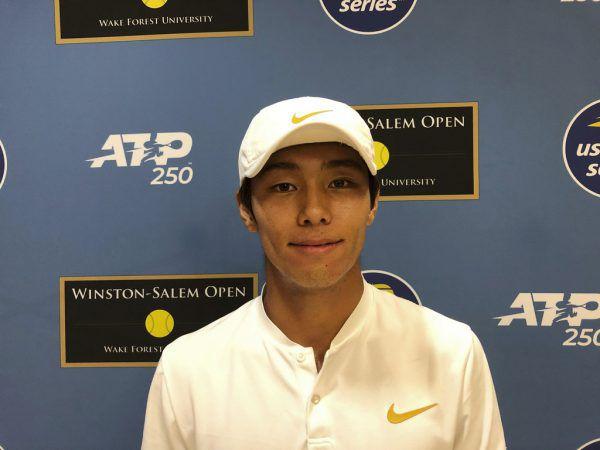 Lee Duck-hee freute sich nach seinem Sieg beim 250er-Turnier in Winston-Salem.AP