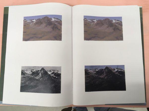 Spannend: Auch die Druckplatten wurden ausgestellt und machten das Verfahren sichtbar. Rechts oben: aus dem Heft von Ferdinand Ruef, unten aus dem Werk von Pirmin Hagen. Lisa Kammann (3)