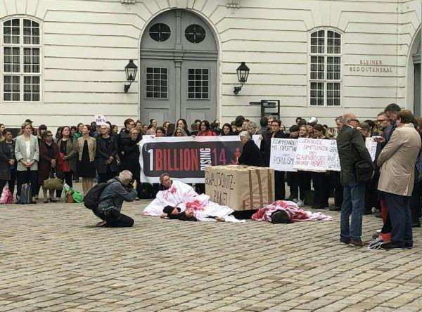 Demonstrationen gegen das Gesetz. APA/MARKUS WIMMER