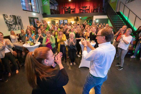 Die Grünen feierten ein historisch gutes Ergebnis.Frederick Sams