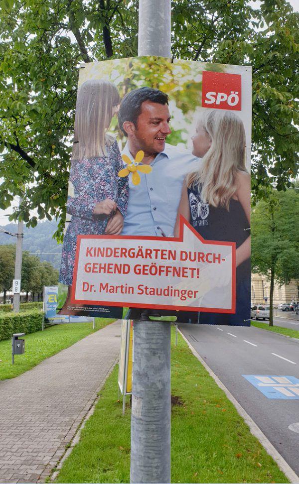 Die SPÖ hat schon für die Landtagswahl plakatiert. apa/Jochen Hofer