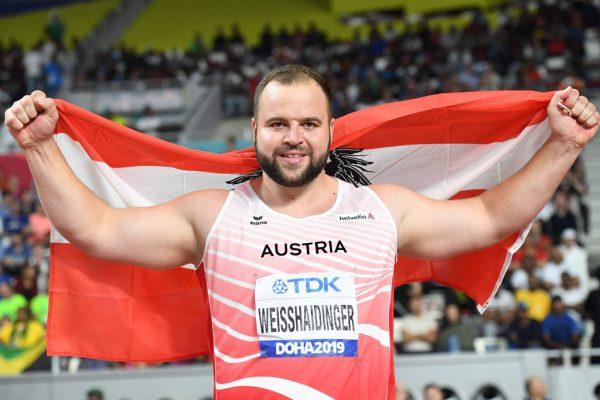 Lukas Weißhaidinger nach seinem Erfolg in Doha.APa