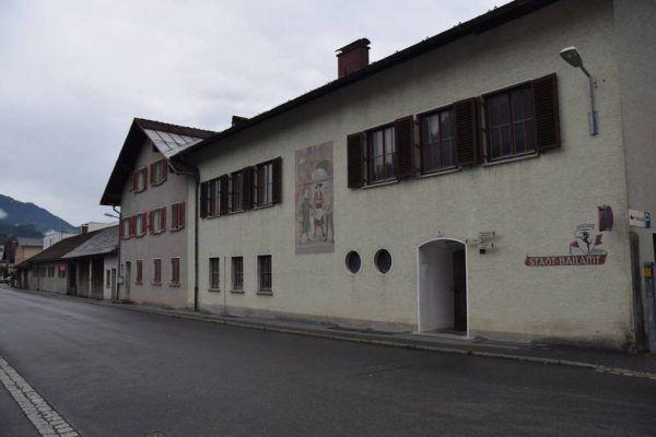 So sah der alte Bauhof vor dem Abbruch aus.Stadt Bludenz