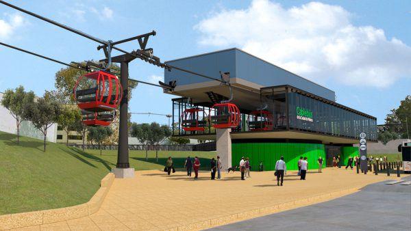 So soll die Seilbahnstation in Mexiko City einmal aussehen. Der Spatenstich für das Projekt erfolgte bereits Mitte September. Doppelmayer