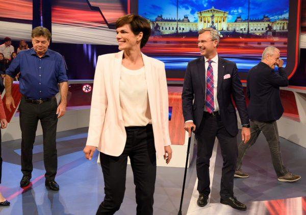 Werner Kogler, Pamela Rendi-Wagner und Norbert Hofer könnten in Koalitionsverhandlungen mit Sebastian Kurz eintreten.AFP